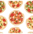 Pizza seamless pattern for your design vector image