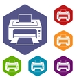 Printer icons set vector image vector image