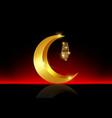 ramadan mubarak background kareem gold vector image