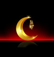 ramadan mubarak background ramadan kareem gold vector image vector image
