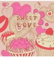 Retro Sweet Love Background vector image vector image