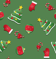 Seamless Christmas pattern texture with red vector image vector image