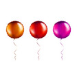 set bronze and pink round shaped foil balloons vector image