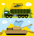 set of russian military army flat style vector image vector image
