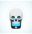 skull mobile phone vector image vector image