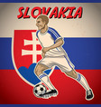 slovakia soccer player with flag background vector image vector image
