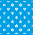 snowflake pattern seamless blue vector image vector image
