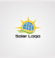 solar alternative energy logo icon element and vector image