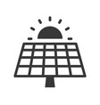 solar cell panel and sun green energy icon vector image