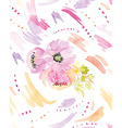 Spots watercolor seamless Flowers vector image