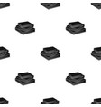 stack of books icon in black style isolated on vector image
