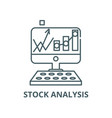 stock analysis line icon linear concept vector image vector image