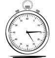 stop watch sketch vector image vector image