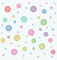 stripe circles texture vector image vector image