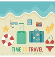 Summer composition with flat design icons Summer vector image vector image
