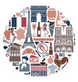 symbols france in form a circle vector image