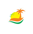 travel summer holiday island vector image