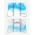 Trifold snowflake brochure vector image