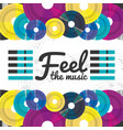 vinyl record with musical notes concept vector image vector image