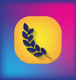 wheat spike ears icon vector image