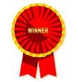 winners rosette vector image vector image