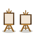 Wooden Easel with Empty Frames vector image