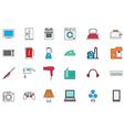 Appliances colorful icons set vector image