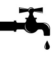 water droplets from faucet vector image