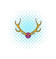 Deer head icon comics style vector image