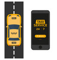taxi service mobile app for booking service taxi vector image