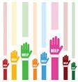 hands help set in color vector image