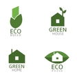 Green Biuld icons vector image