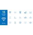 15 royal icons vector image vector image