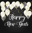 2018 happy new year ballon vector image vector image