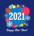 2021 vector image vector image