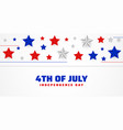4th july happy independence day stars vector image vector image