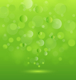 Abstract background green lights vector image
