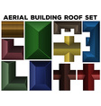 Aerial building roof set vector image