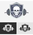 Athletic gym logo concept vector image