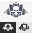 Athletic gym logo concept vector image vector image