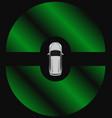 autonomous car top view self driving vehicle vector image vector image