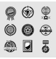 awards badge vintage set collection vector image vector image
