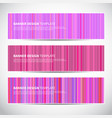 banners or headers with pink striped colorful vector image vector image