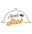 bbq fresh steak image vector image