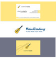 beautiful guitar logo and business card vertical vector image