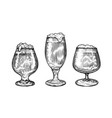 beer glass and mug in hand drawn style pub