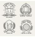 Beer line logo vector image vector image