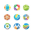 best abstract circle logo set design vector image