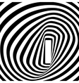 Black and white spiral optical vector image vector image