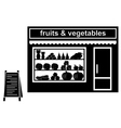Black icon of shop of fruit vector image